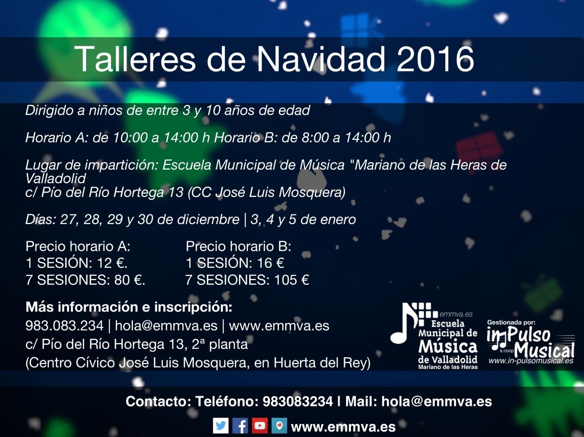 talleres-de-navidad- Escuela Municipal de Música de Valladolid