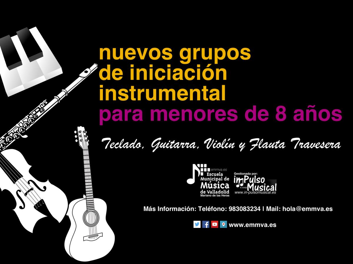 Nuevos grupos de iniciación instrumental escuela municipal de música de Valladolid