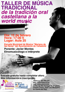 Taller Música Tradicional Escuela Municipal de Música de Valladolid