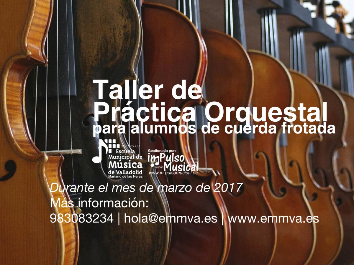 taller práctica orquestal escuela municipal de música de valladolid
