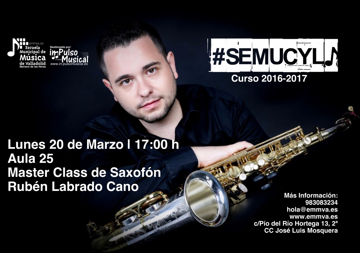 Master Class Saxofón Escuela Municipal de Música de Valladolid